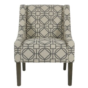 Wrought Studio Roussel Modern Swoop Armchair