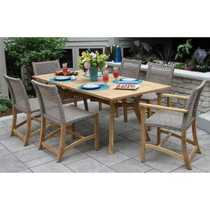 Awesome Marva Teak 7 Piece Dining Set