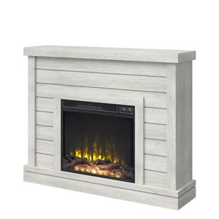 Fish Shiplap Wall Mantel Electric Fireplace by Breakwater Bay