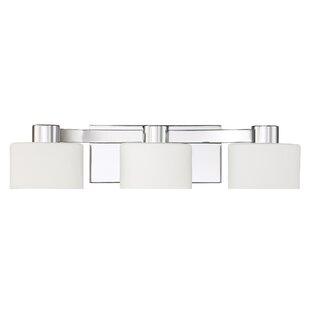 Deals Myrtlewood Polished Chrome 3-Light Vanity Light By Ebern Designs