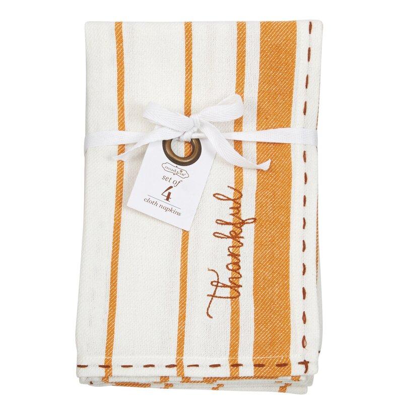 "Thankful Cloth 20"" Cotton Napkin"