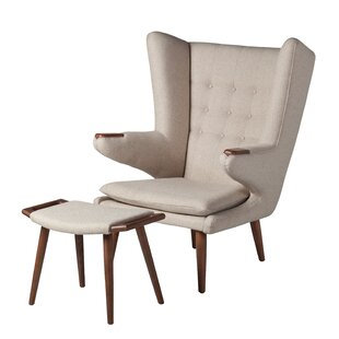 Corrigan Studio Johanna Papa Bear Lounge Chair and Ottoman