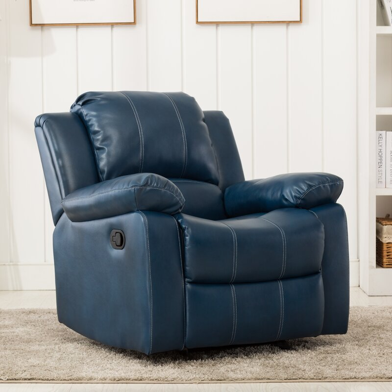 Symone Faux Leather Manual Glider Recliner