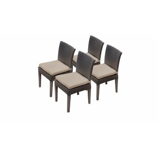 Meier Patio Dining Chair with Cushion (Set of 4)