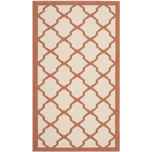 Zayn Hand Tufted Beige/Terracotta Indoor/Outdoor Rug By Canora Grey