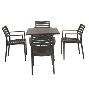 Ebern Designs Weingarten Commercial Grade 5 Piece Dining Chair Set