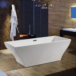 Deals 67 x 32 Freestanding Soaking Bathtub ByAKDY