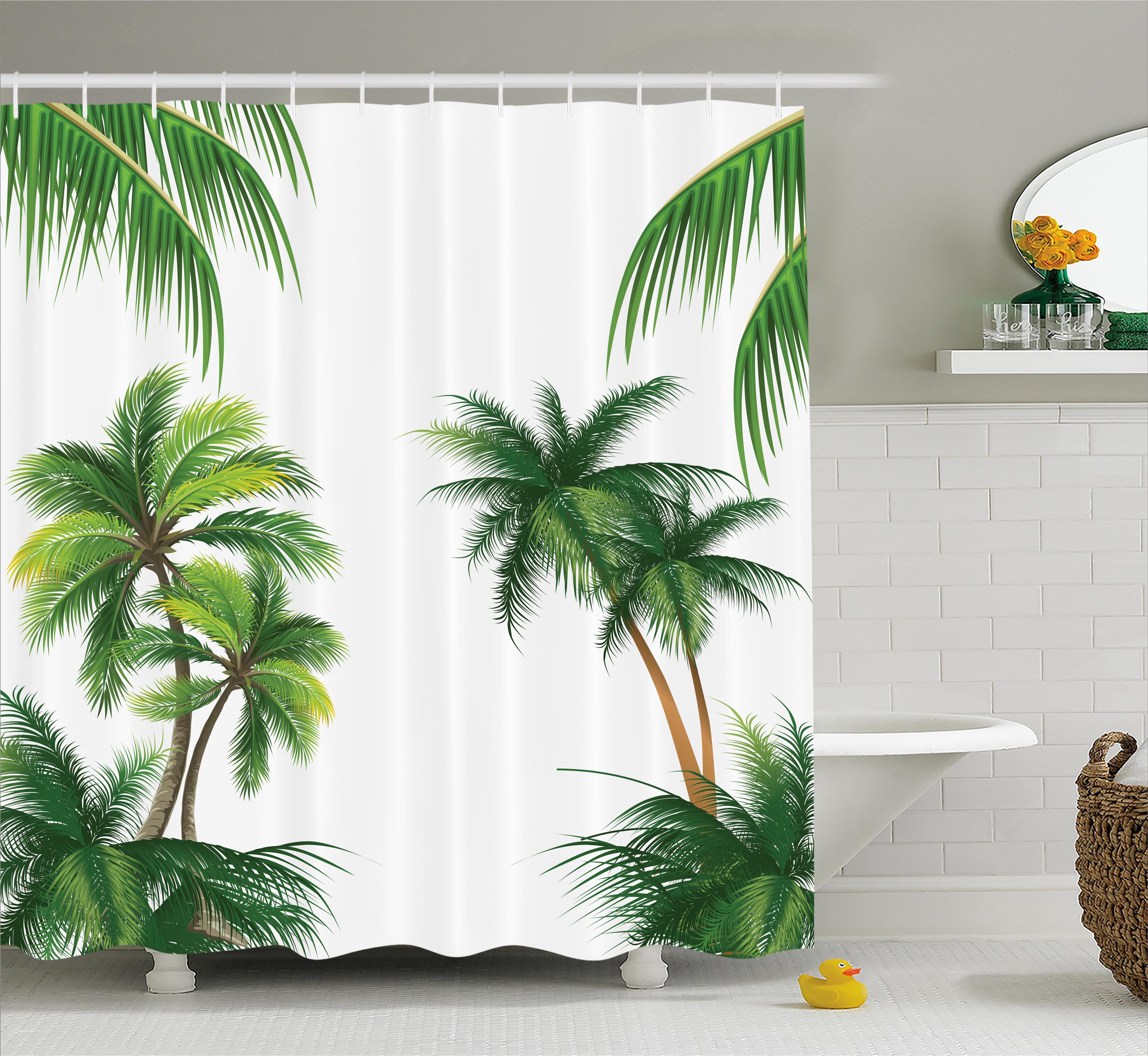 Bayou Breeze Aquila Coconut Palm Tree Plants Shower Curtain Reviews