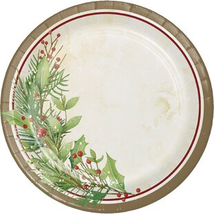 Alonso Wreath Paper Appetizer Plate (Set of 24)