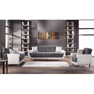 Tugrul 3 Piece Sleeper Living Room Set By Orren Ellis