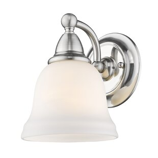 Compare prices Filey 1-Light Bath Sconce By Charlton Home