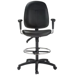 High-Back Leather Drafting Chair