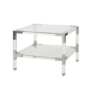 2 Tier Acrylic End Table by Worlds Away