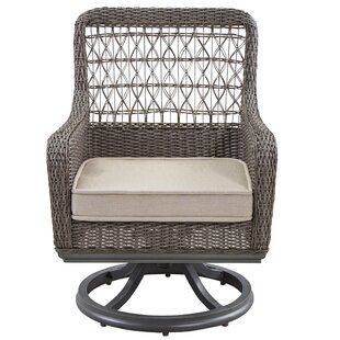Dogwood Swivel Patio Dining Chair with Cushion (Set of 2)