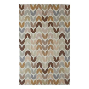 Tulip Hand-Woven Brown Area Rug