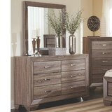 Gussie 6 Drawer Double Dresser with Mirror by Darby Home Co