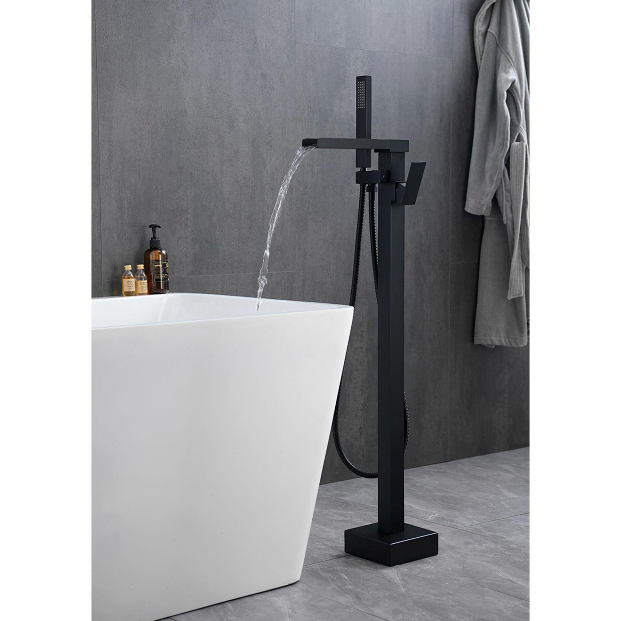 Matrix Decors Single Handle Floor Mounted Clawfoot Tub Faucet Wayfair