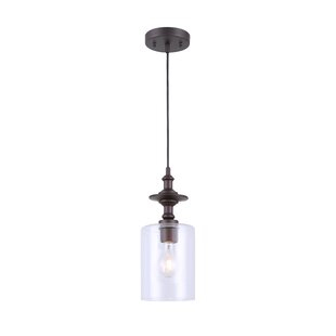 Moyer 1-Light Cylinder Pendant by Wrought Studio