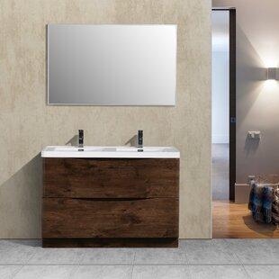 Bargain Blondene 48 Double Bathroom Vanity Set ByTrent Austin Design