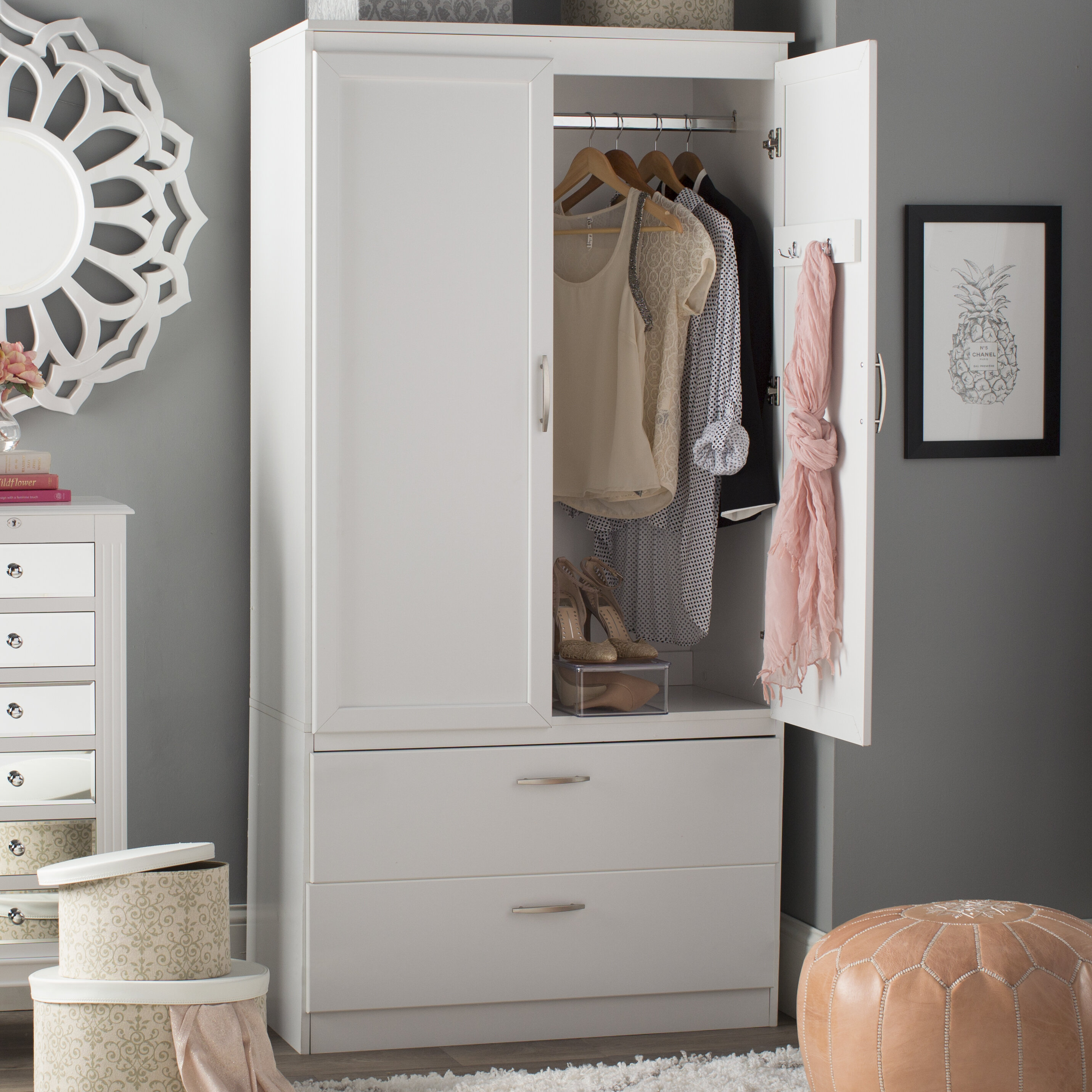 armoire unique section wood wardrobe carved cm world floral market frais white of stock collection mango elvarli