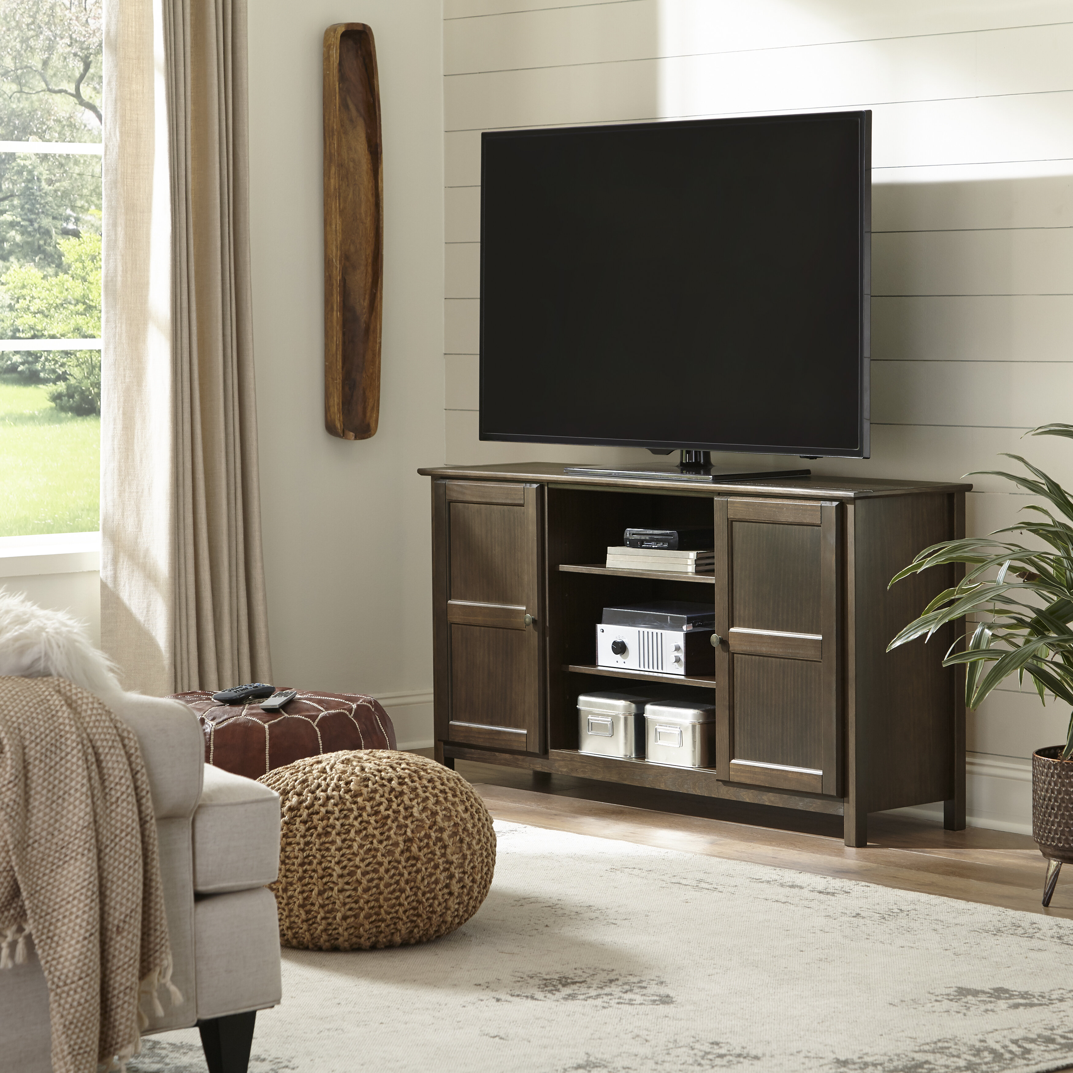 Grain Wood Furniture Shaker Solid Wood Tv Stand For Tvs Up To 65 Reviews