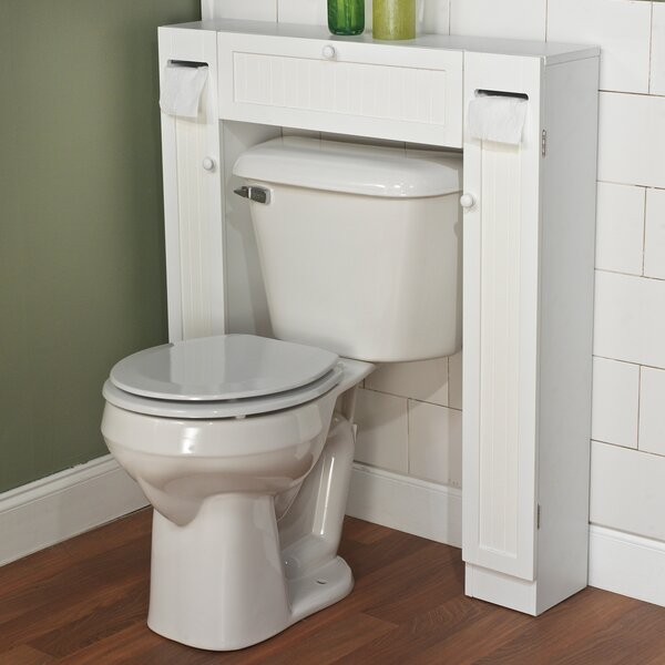 Rebrilliant Free Standing 34 W X 38 5 H Over The Toilet Storage Reviews Wayfair