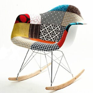 Fine Mod Imports Patterned Rocking Chair