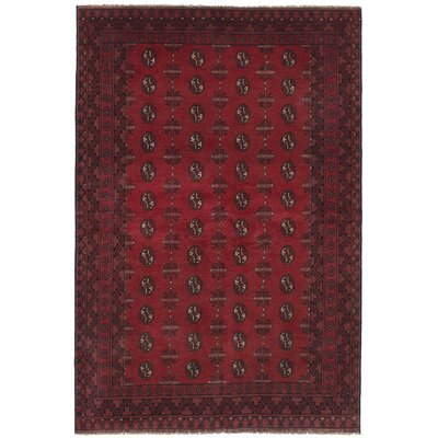 One Of A Kind Alarick Hand Knotted Wool Dark Red Area Rug Isabelline