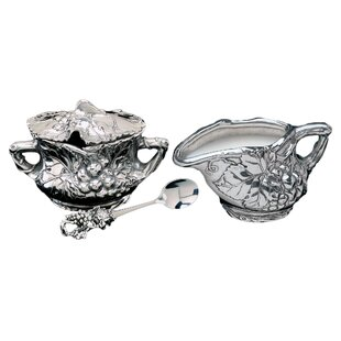 3 Piece Grape Sugar and Creamer Set
