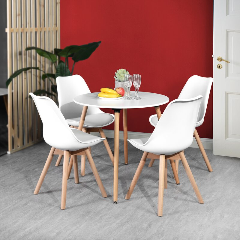 George Oliver Falk Solid Wood Dining Table Reviews Wayfair