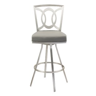 Chuckanut 26 Swivel Bar Stool Red Barrel Studio