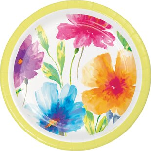 Floral Paper Disposable Appetizer Plate (Set of 24)