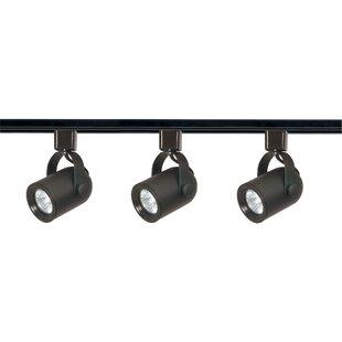 Nuvo Lighting 3-Light Line Voltage Round Back Track Kit