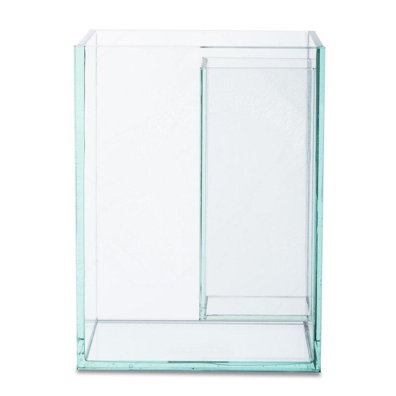 Orren Ellis Smithland Clear 12 Indoor Outdoor Glass Table Vase Wayfair