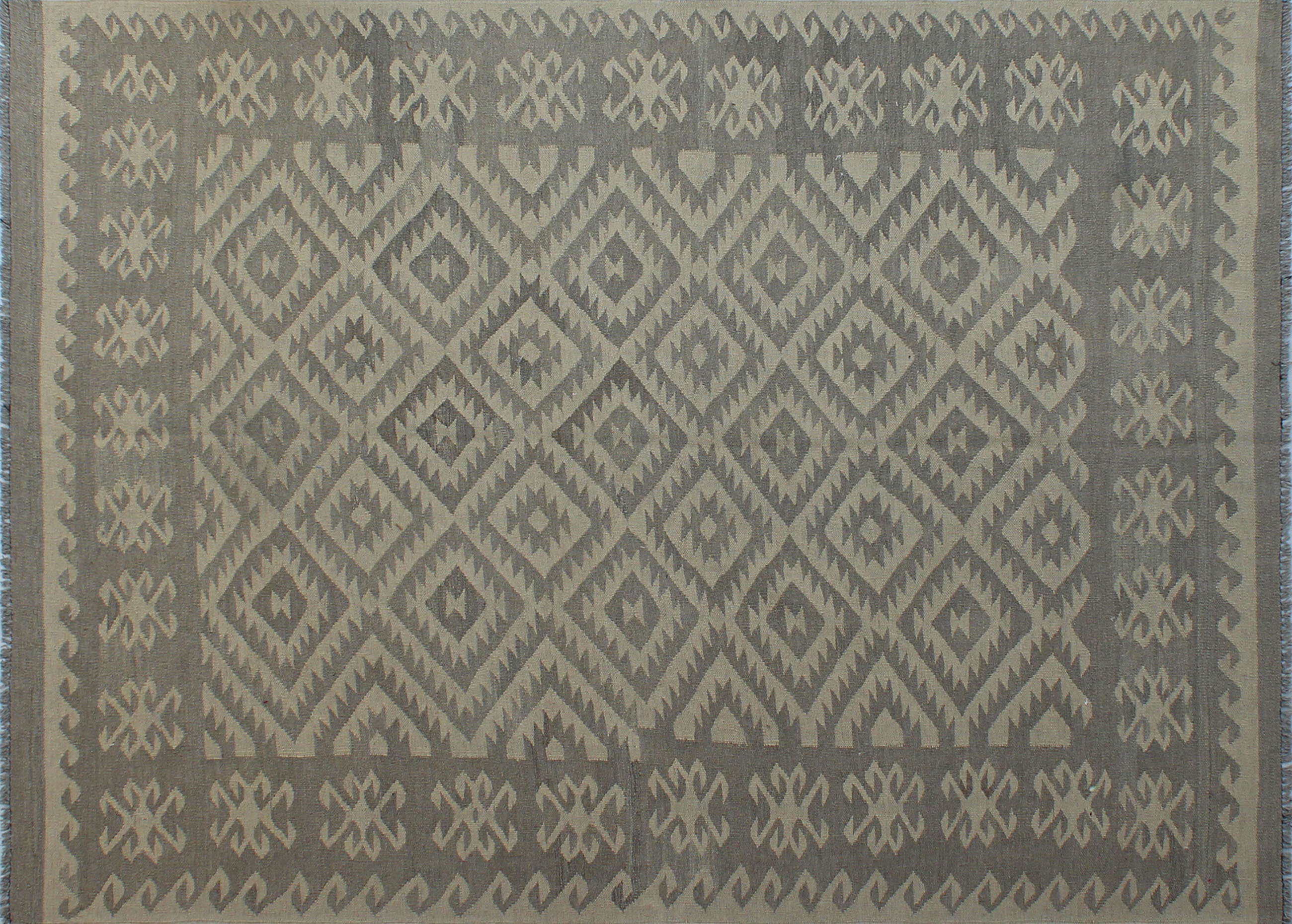 Foundry Select Benge Hand Knotted Wool Gray Brown Area Rug Wayfair