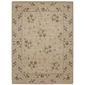 Sharon Taupe/Burgundy Area Rug