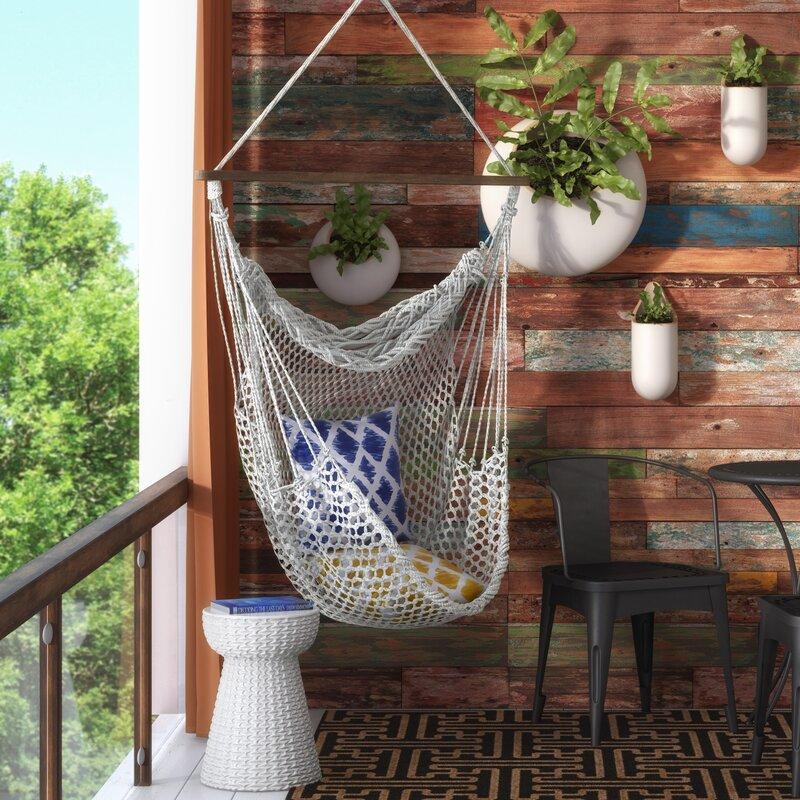 hawkins cotton rope chair hammock mistana hawkins cotton rope chair hammock  u0026 reviews   wayfair  rh   wayfair