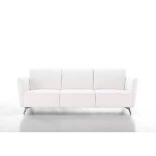 Haddad Genuine Leather 3 Seater Sofa By Wade Logan