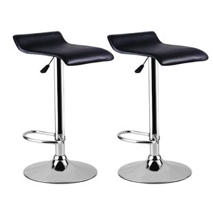 Mariaella Height Adjustable Swivel Bar Stool (Set Of 2) By Metro Lane