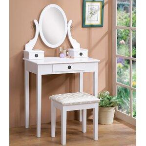 Mirror For Vanity Makeup Tables And Vanities You'll Love  Wayfair