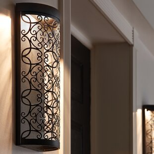 Veer 1-Light Outdoor Flush Mount by Bungalow Rose