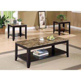 Fleur De Lis Living Killingly 3 Piece Coffee Table Set