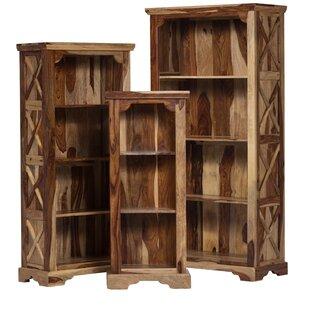 Stahl Solid Sheesham Wood Standard Bookcase Loon Peak