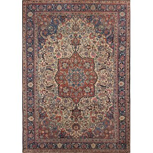 One-of-a-Kind Doerun Antique Khoy Tabriz Persian Hand-Knotted 7' 3'' x 10' 4'' Wool Red/Burgundy Area Rug ByIsabelline