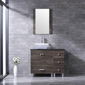 Orren Ellis Broumov 24 Single Bathroom Vanity With Mirror Reviews Wayfair