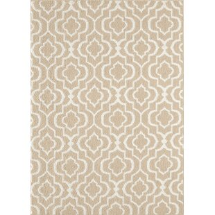 Inexpensive Minehead Tan/Off-White Area Rug By House of Hampton