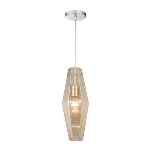 Orren Ellis April 1-Light Cylinder Pendant