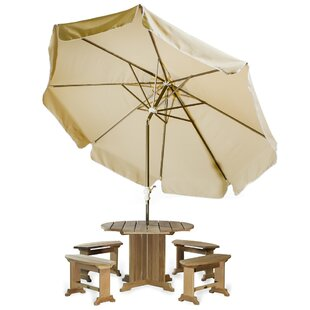 Java Teak 10' Drape Umbrella
