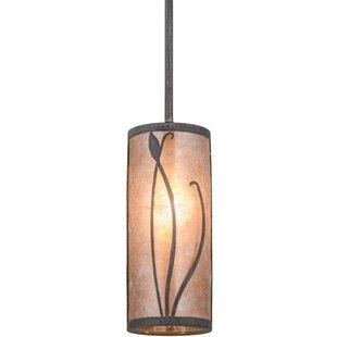 Meyda Tiffany Greenbriar Oak 1-Light Cylinder Pendant