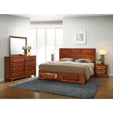 Oakland Platform Bedroom Set by Roundhill Furniture